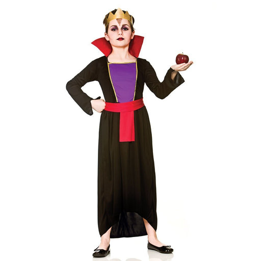 Wicked Queen Girls Children Fancy Dress Costume Dress & Crown