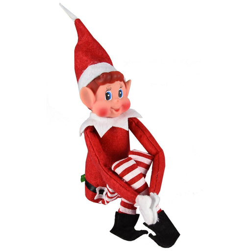 Elves Behavin' Badly Vinyl Faced Naughty Elf Christmas Doll Decoration 30cm