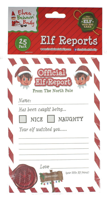 Elves Behavin' Badly Naughty Elf & 25 Elf Reports Christmas Decoration