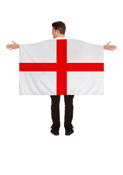 Henbrandt England Polyester English Flag Cape World Cup Party Celebration 5x3ft