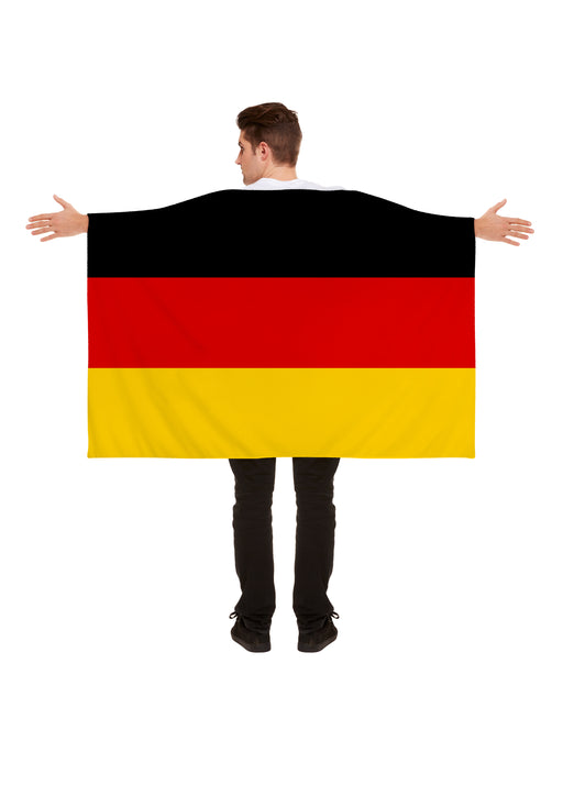 Henbrandt Germany Polyester German Flag Cape World Cup Party Celebration 5x3ft