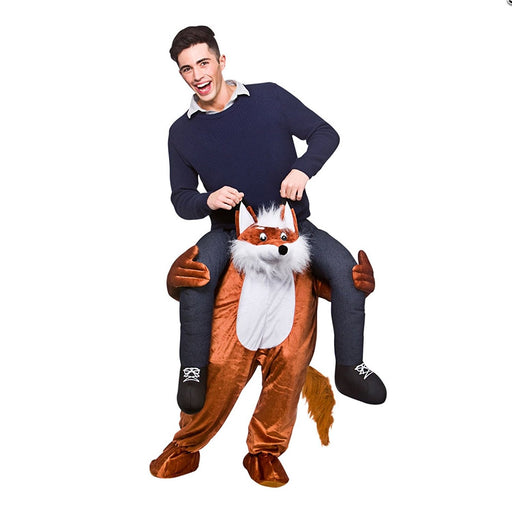 Adults Fox Shoulder Carry Me Ride On Piggy Back Fancy Dress Costume Outfit Idea