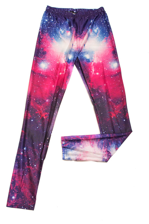 Adults Purple, Pink & Blue Galaxy Printed Leggings/ Skinny Pants