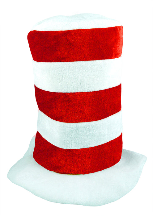 Cat Hat Children's Red White Tall Top Hat World Book Day Fancy Dress