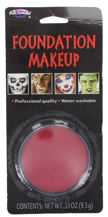 Halloween Face Paint  Foundation Make Up Compact Makeup 9.3g-Red
