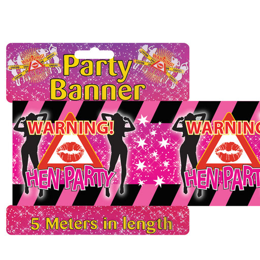 Hen Night 5 Meter Long Party Decoration Warning Tape Banner Decoration Novelty