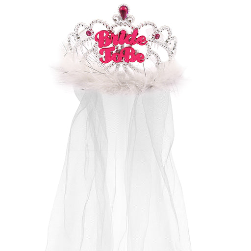Hen Night Bride To Be Tiara With Veil Hen Party Accessory