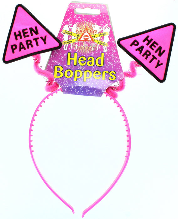 Hen Night Hot Pink �Hen Party� Head Bopper Headband Hen Party Accessory