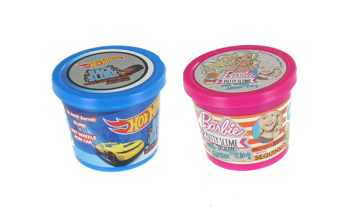 Hot Wheels Barbie Slime With Surprise Putty Stretch Squeeze Tub 90g 2 Pack