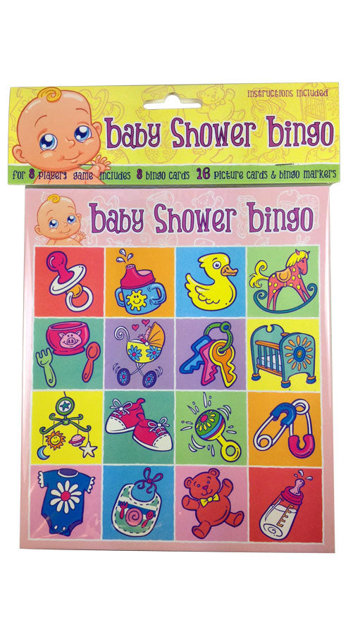 Baby Shower Mum To Be Fun Bingo Card Game For 8 Players Unisex Boy Girl Gift