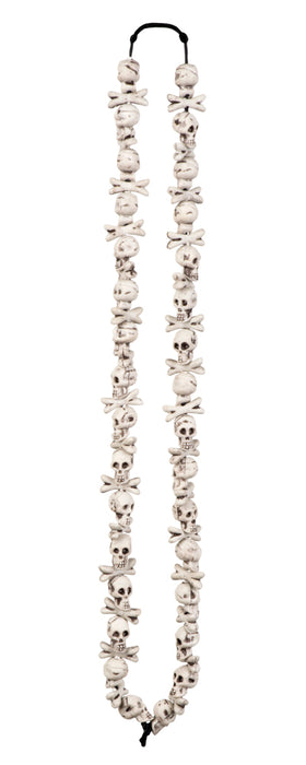 Adults Halloween Skull and Bones Necklace Fancy Dress Accessory