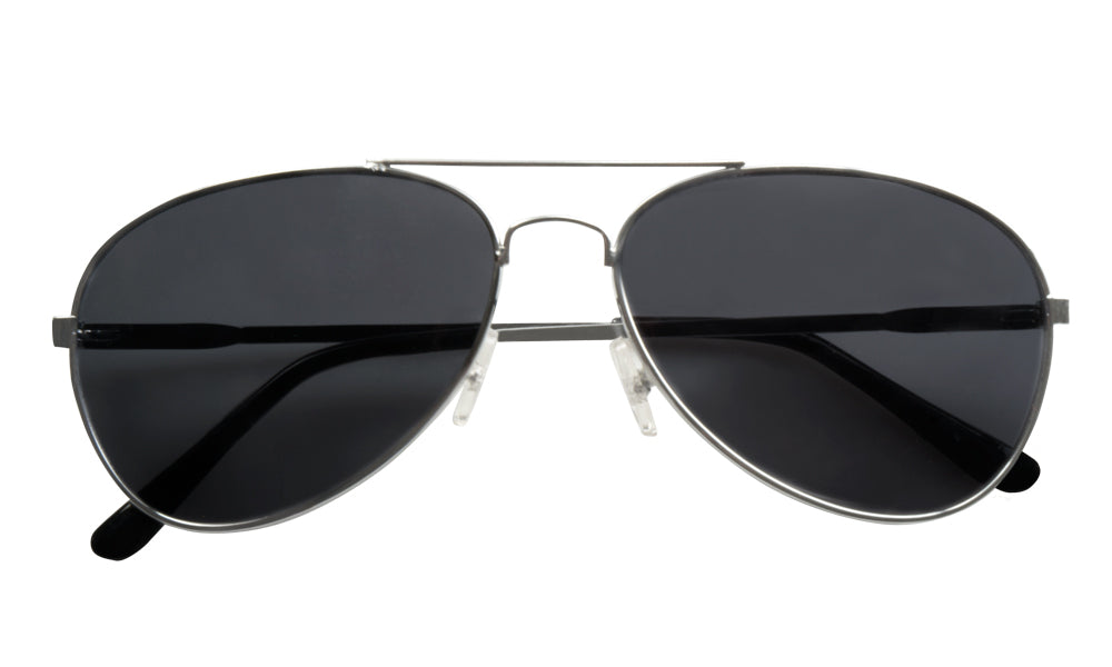 Adults Black Aviator Captain Pilot Officer Sunglasses Fancy Dress Accessory