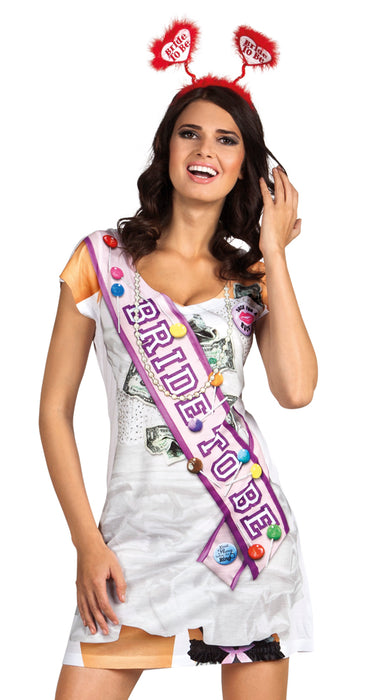 Ladies Bride to Be Hen Party Photo-realistic Fancy Dress Shirt/Dress