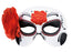Adult Halloween Day of the Dead Mask with Flower Fancy Dress Accessory