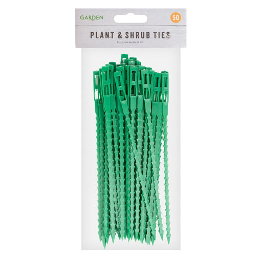 Garden Plastic Cable Ties Reusable Plant Shrub Ties Pack of 50 Garden Greenhouse