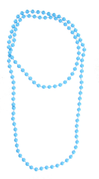Bright Coloured Plastic Neon Beads/ Necklace-Blue