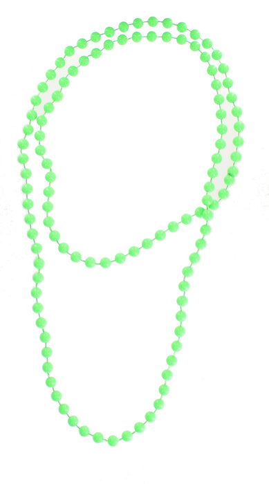 Bright Coloured Plastic Neon Beads/ Necklace-Green