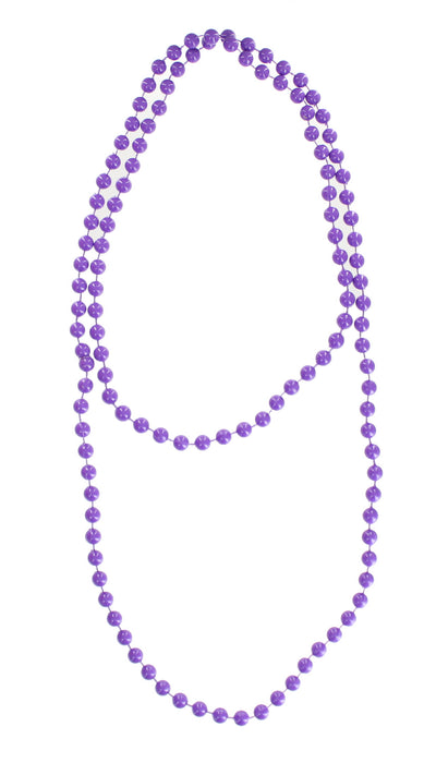 Bright Coloured Plastic Neon Beads/ Necklace-Purple