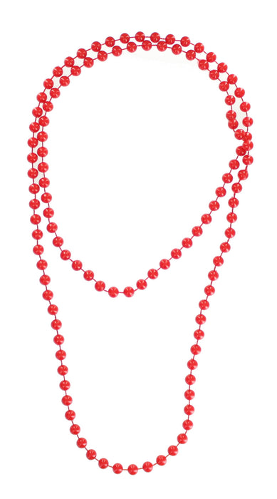 Bright Coloured Plastic Neon Beads/ Necklace-Red