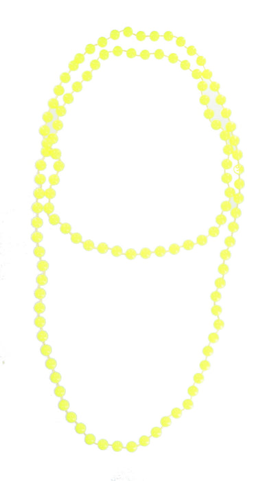 Bright Coloured Plastic Neon Beads/ Necklace-Yellow