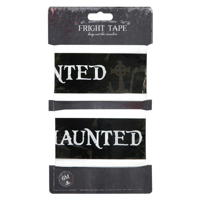 Halloween Party Warning Danger Tape Banner 6M Haunted Party Decoration-Black