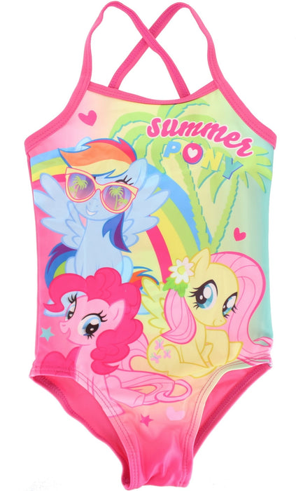 My Little Pony Summer Girl's One Piece Swimming Costume -2-3 Years