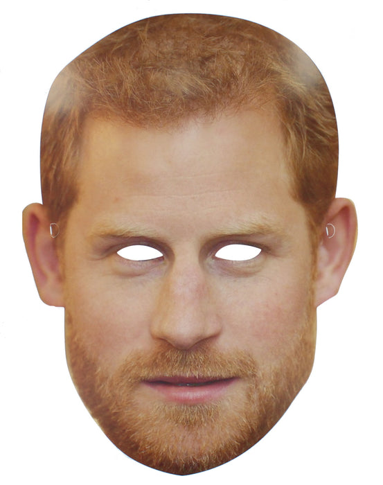 Prince Harry Royal Wedding Celebrity Card Face Mask Street Party Accessory