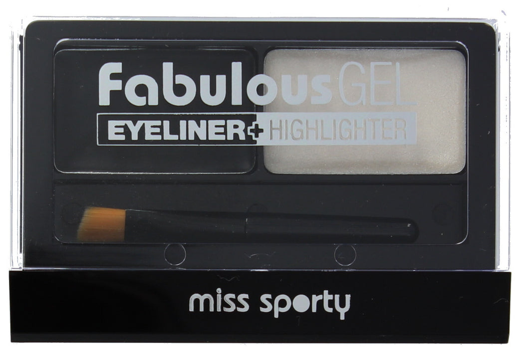 Miss Sporty Fabulous Gel Eyeliner And Highlighter-001 Black & White