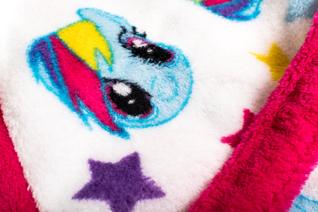 My Little Pony Childrens Pink & White Girls Bath Robe Dressing Gown ...