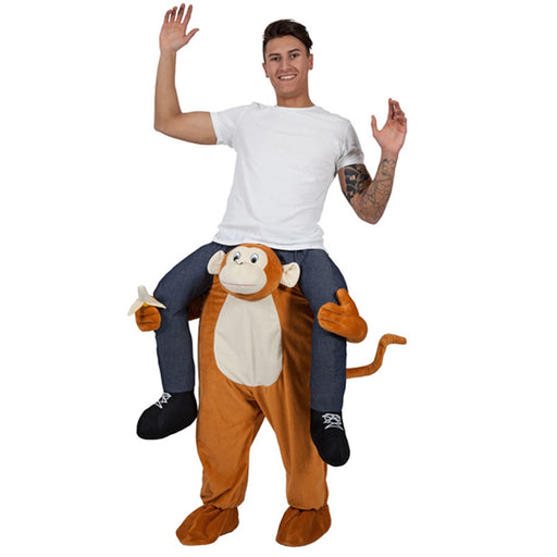Adults Monkey Shoulder Carry Me Ride On Piggy Back Fancy Dress Costume Outfit Idea