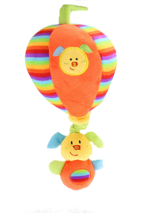 First Steps Baby Musical Plush Dog Toy with Bright Colours