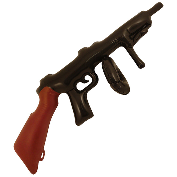 Novelty Inflatable Blow Up Toy Tommy Gun 80cm Fancy Dress Accessory Party Bag