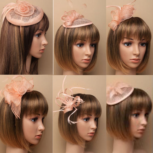 Nude Fascinator on Headband/ Clip-in for Weddings, Races and Occasions