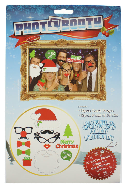 Photobooth 12 Piece Festive Christmas Photo Props Set