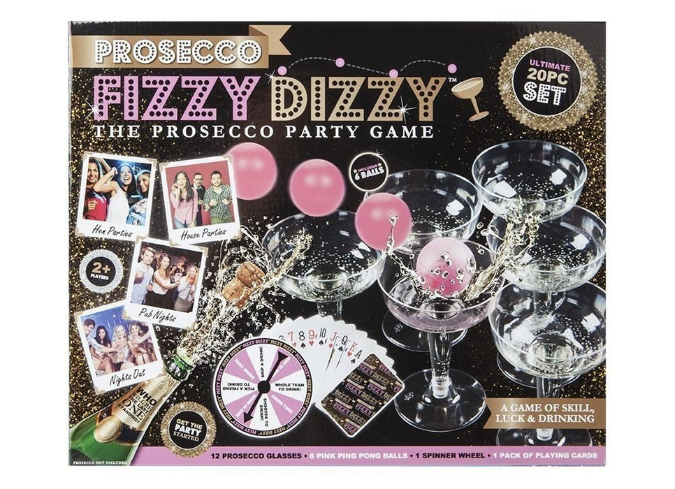 Prosecco Fizzy Dizzy 20 Piece Adult Drinking Party Game