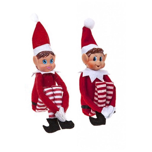 Elves Behavin' Badly 2 Vinyl Faced Naughty Elves Christmas Doll Decoration
