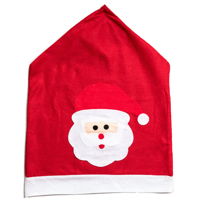 Snow White Festive Felt Christmas Red Santa Chair Cover