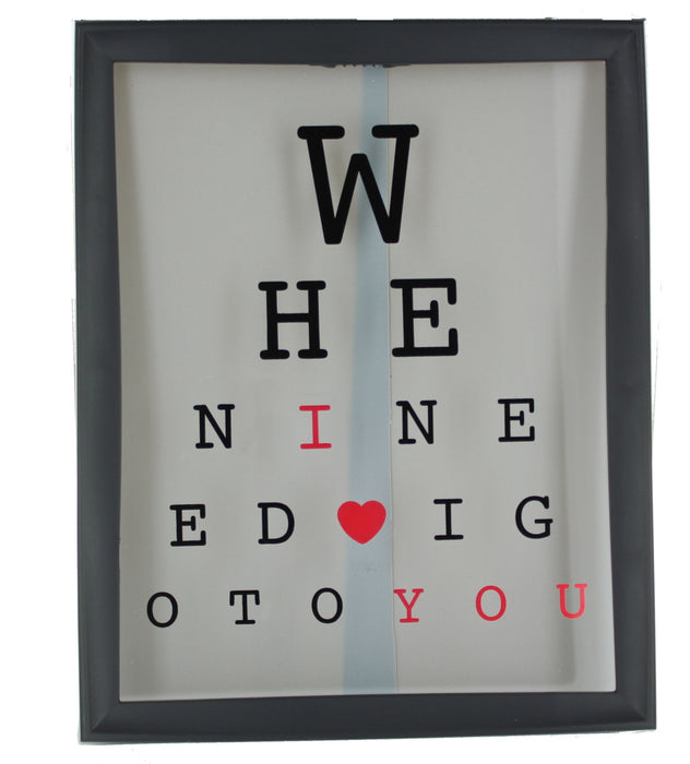 I Love You Hanging Eye Test Frame Decoration Valentines Day Gift