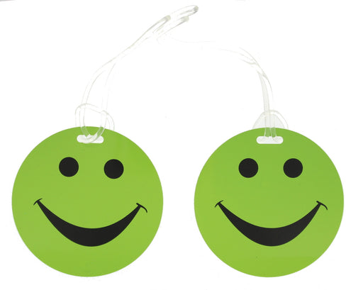 Luggage Tag 2Pack Travel Log Smiley Holiday Baggage Label Travel Essentials