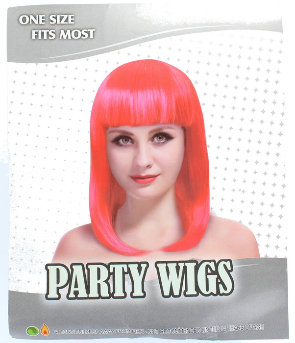 One Size Fits Most Party Bob Wig Fancy Dress Accessory Fake Hair Disco Novelty