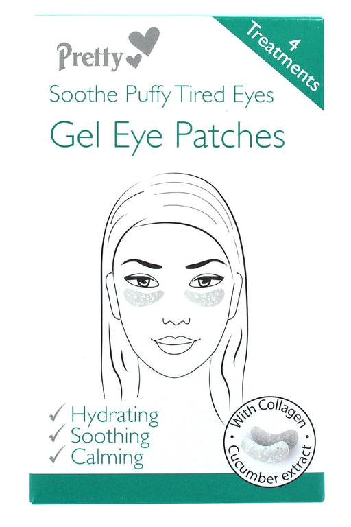 Pretty Gel Eye Patches 4 Treatments Soothe Puffy Tired Eyes