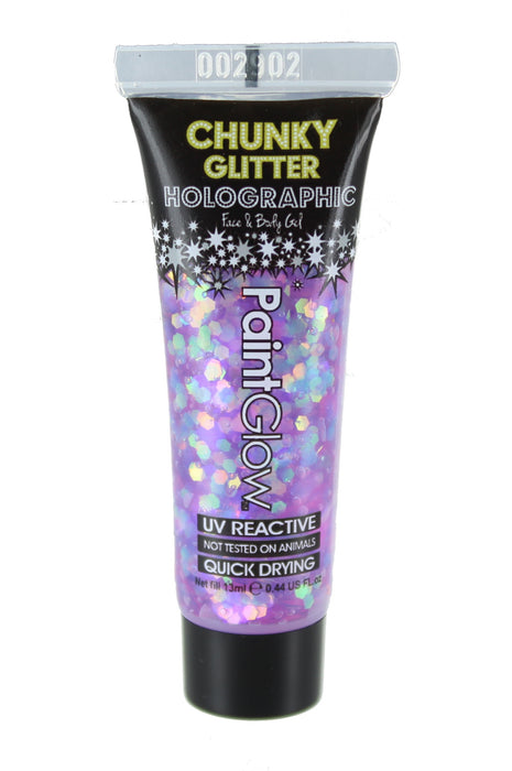 Paint Glow Holographic Chunky Glitter Face & Body Gel 13ml-Dusk till Dawn