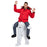 Adults Polar Bear Shoulder Carry Me Ride On Piggy Back Fancy Dress Costume Outfit