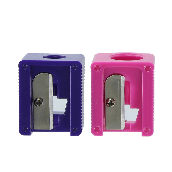 Pretty Dual Pencil Sharpener with Two Sizes & Shaving Collector