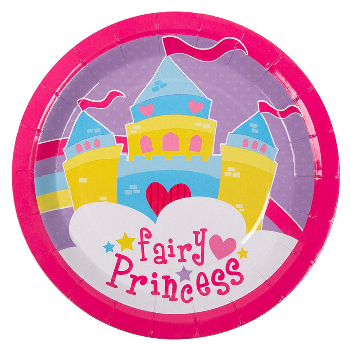 20 Girls Childrens Paper Plates Princess Birthday Party Disco Tableware Catering