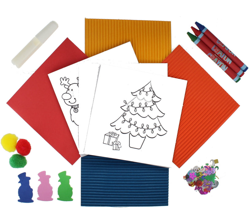 Make Your Own Festive Christmas Cards Activity Set For Children