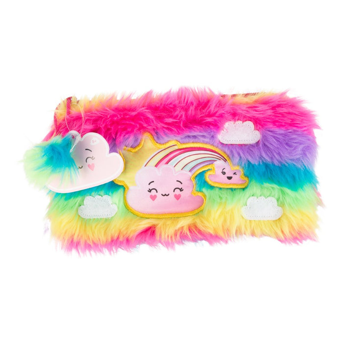 Forecast Friends Rainbow Fluffy Pencil Case Childrens Stationery