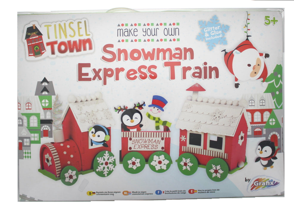 Tinsel Town Christmas Make Your Own Snowman Express Train Activity Kit