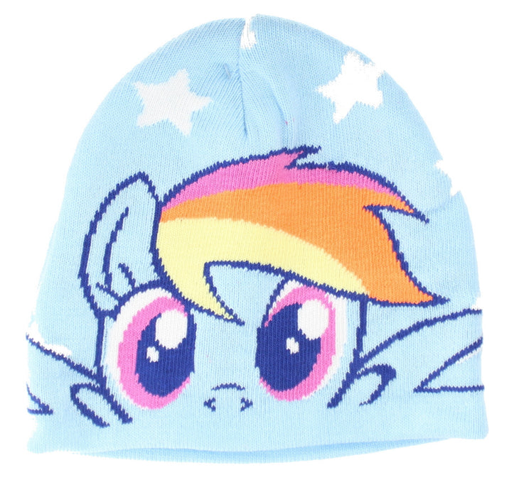 My Little Pony Rainbow Dash Girls Blue Winter Hat & Gloves Set - One Size