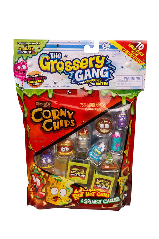 The Grossery Gang Corny Chips 10 Figure Pack Childrens Toy Playset